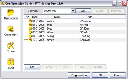Golden FTP Server v5.00