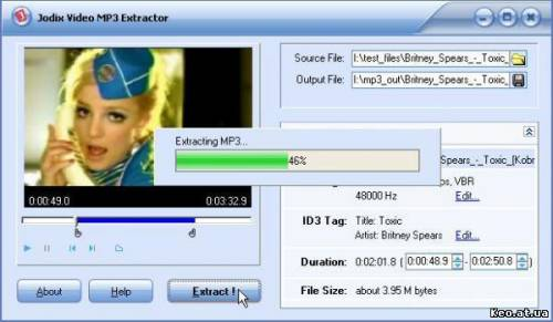 Video mp3 Extractor 1.8 Free